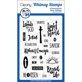 Whimsy Stamps SAVIOR Clear Stamps CWSD369*