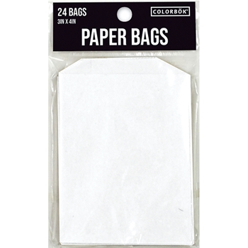 ColorBok WHITE PAPER BAGS 3x4 Inches 24 Pack 3572