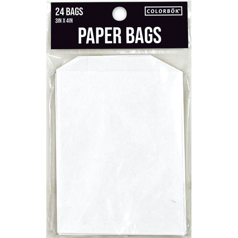 ColorBok WHITE PAPER BAGS 3x4 Inches 24 Pack 3572 zoom image
