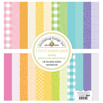 Doodlebug SPRING 12x12 Inch Petite Print Assortment Paper Pack 7194