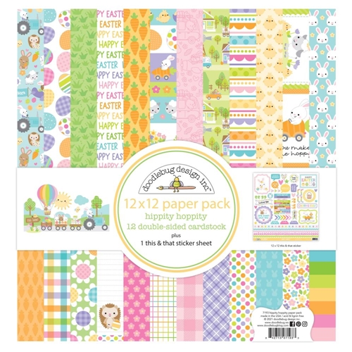 Doodlebug HIPPITY HOPPITY 12x12 Inch Paper Pack 7193 Preview Image