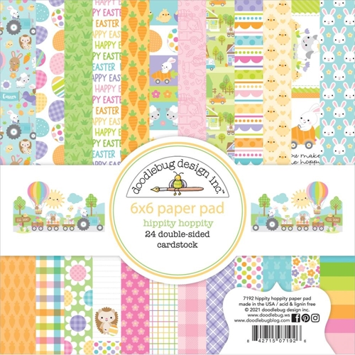 Doodlebug HIPPITY HOPPITY 6x6 Inch Paper Pad 7192 Preview Image