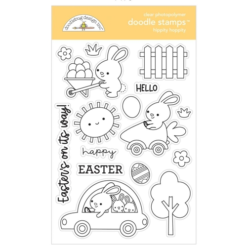 Doodlebug HIPPITY HOPPITY Clear Stamps 7178 Preview Image