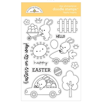 Doodlebug HIPPITY HOPPITY Clear Stamps 7178