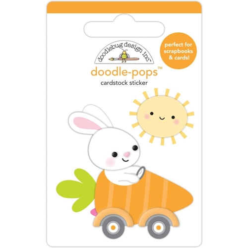 Doodlebug BUNNY I'M HOME Doodle Pops 3D Stickers 7174 Preview Image