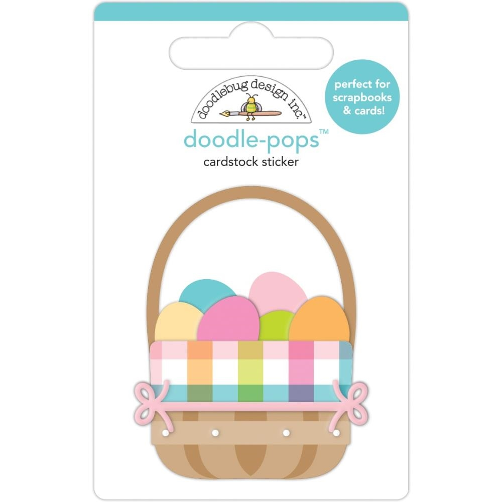 Doodlebug EASTER BASKET Doodle Pops 3D Sticker 7171 zoom image