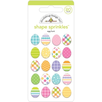 Doodlebug EGG HUNT Shape Sprinkles 7168