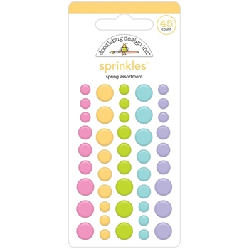 Doodlebug SPRING ASSORTMENT Enamel Dot Sprinkles 7166