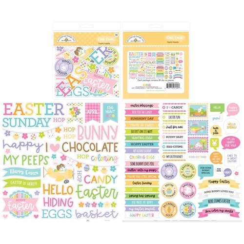 Doodlebug HIPPITY HOPPITY CHIT CHAT Die Cut Pieces Ephemera 7182 Preview Image