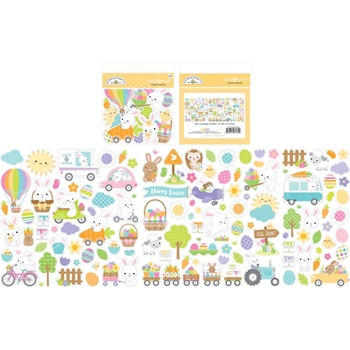 Doodlebug HIPPITY HOPPITY ODDS AND ENDS Ephemera Die Cut Shapes 7181
