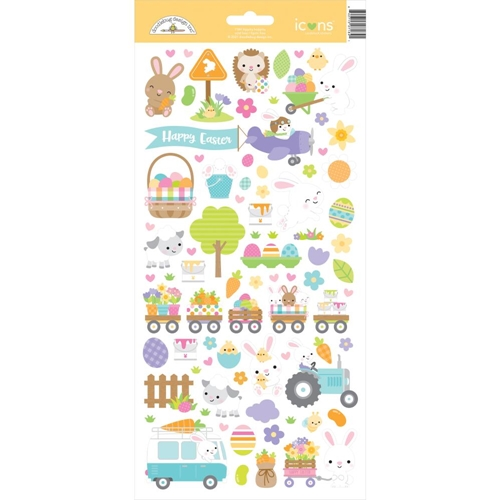 Doodlebug HIPPITY HOPPITY Icons Cardstock Stickers 7184 Preview Image