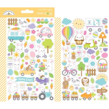 Doodlebug HIPPITY HOPPITY Mini Icons Stickers 7177