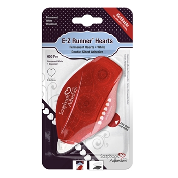 Scrapbook Adhesives HEARTS EZ Runner Refillable Dispenser 01241