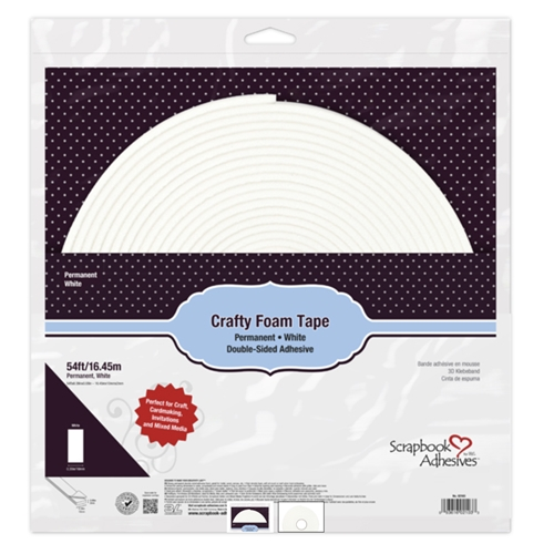 Scrapbook Adhesives WHITE Crafty Foam Tape 54 Feet 02103 Preview Image