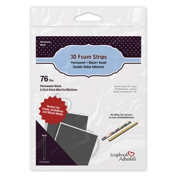Scrapbook Adhesives BLACK 3D Foam Strips 01408
