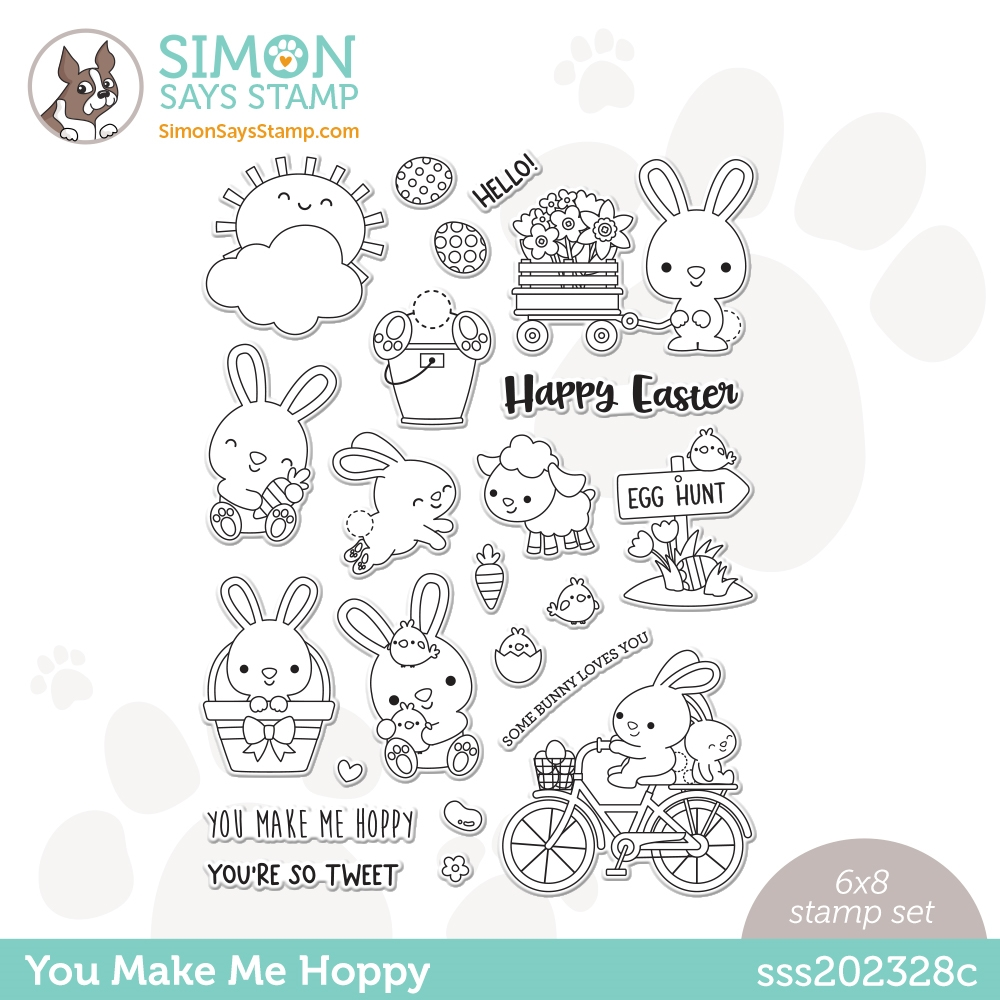 Simon Says Clear Stamps YOU MAKE ME HOPPY sss202328c zoom image