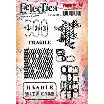 Paper Artsy SETH APTER 19 ECLECTICA3 Cling Stamp esa19