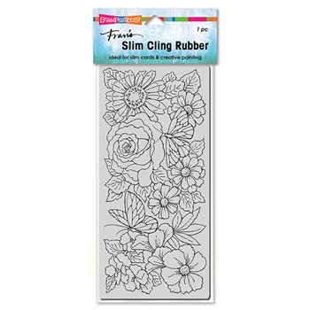 Stampendous Cling Stamp SLIM FLORAL WING csl02