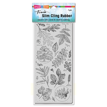 Stampendous Cling Stamp SLIM LEAFY TREES csl06