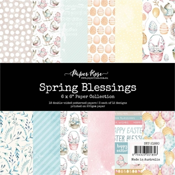 Paper Rose SPRING BLESSINGS 6x6 Paper Pack 21660