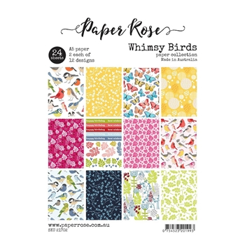 Paper Rose WHIMSY BIRDS Paper Pack 21702