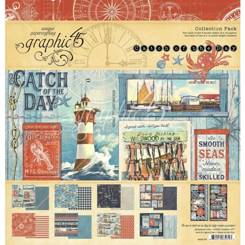Graphic 45 CATCH OF THE DAY 12 x 12 Paper Pad 4502176 Preview Image