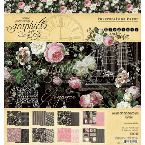 Graphic 45 ELEGANCE 8 x 8 Paper Pad 4502194 Preview Image