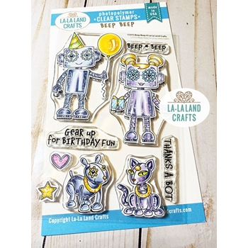 La-La Land Crafts Clear Stamps BEEP BEEP CL075