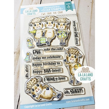 La-La Land Crafts Clear Stamps EWE TAKE THE CAKE CL073
