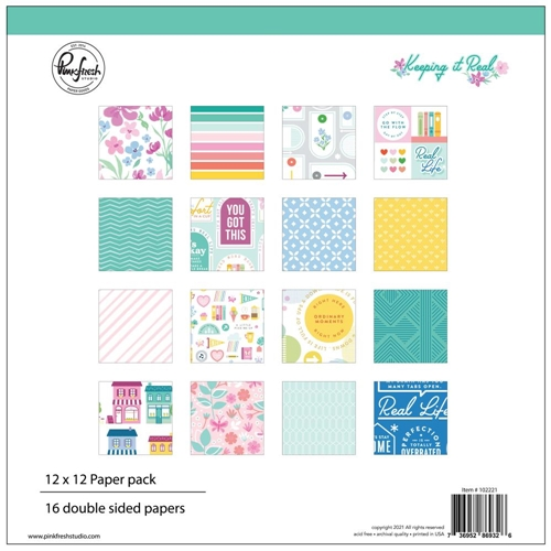 Pinkfresh Studio KEEPING IT REAL 12 x 12 Paper Pack 102221 Preview Image