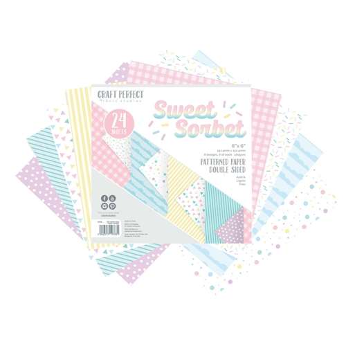 Tonic SWEET SORBET Craft Perfect Patterned 6 x 6 Paper Pack 9383e Preview Image