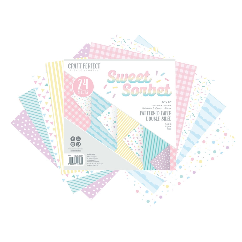 Tonic SWEET SORBET Craft Perfect Patterned 6 x 6 Paper Pack 9383e zoom image