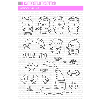 Clearly Besotted SMOOTH SAILING Clear Stamps