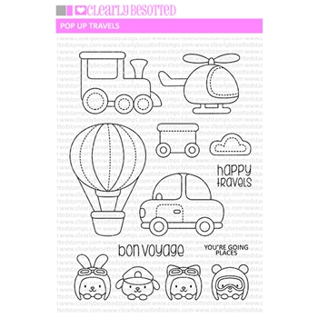 Clearly Besotted POP UP TRAVELS Clear Stamps
