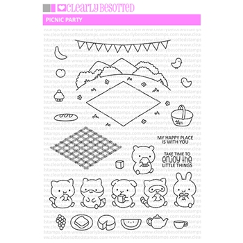 Clearly Besotted PICNIC PARTY Clear Stamps
