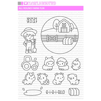 Clearly Besotted ALL ROUND FARM FUN Clear Stamps