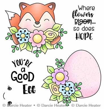 Darcie's HOPE BLOOMS Clear Stamp Set pol490 Preview Image