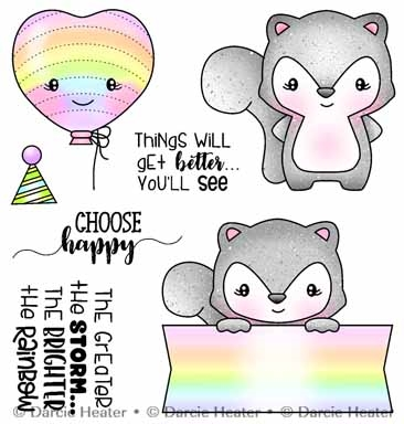 Darcie's CHOOSE HAPPY Clear Stamp Set pol491 Preview Image