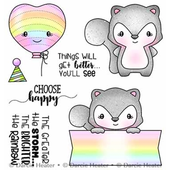 Darcie's CHOOSE HAPPY Clear Stamp Set pol491