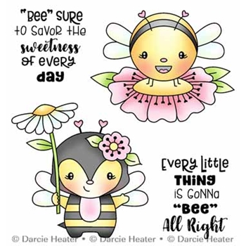 Darcie's BEE ALL RIGHT Clear Stamp Set pol492