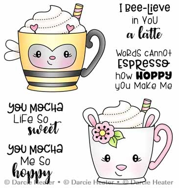 Darcie's SPRING MUGS Clear Stamp Set pol493 Preview Image