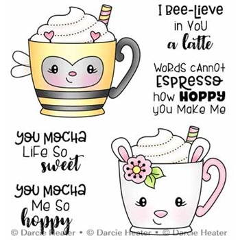 Darcie's SPRING MUGS Clear Stamp Set pol493