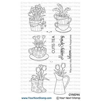 Your Next Stamp CUTE BLOOMS Clear cyns795