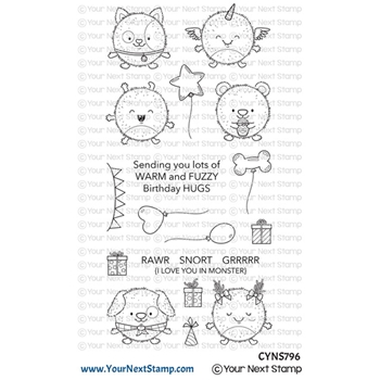 Your Next Stamp FUZZY MONSTERS Clear cyns796
