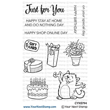 Your Next Stamp HAPPY CAT Clear cyns794