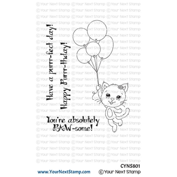 Your Next Stamp HAPPY PURRRTHDAY Clear cyns801