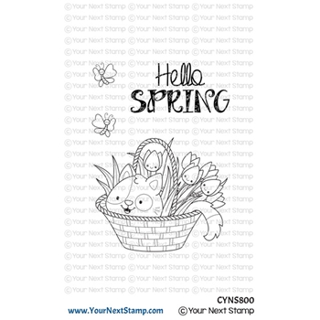 Your Next Stamp SPRING KITTEN Clear cyns800