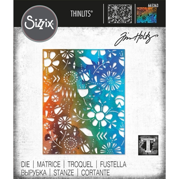 Tim Holtz Sizzix FOLK FLOWERS Thinlits Dies 665363