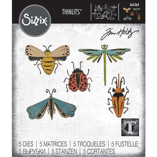 Tim Holtz Sizzix FUNKY INSECTS Thinlits Dies 665364 Preview Image