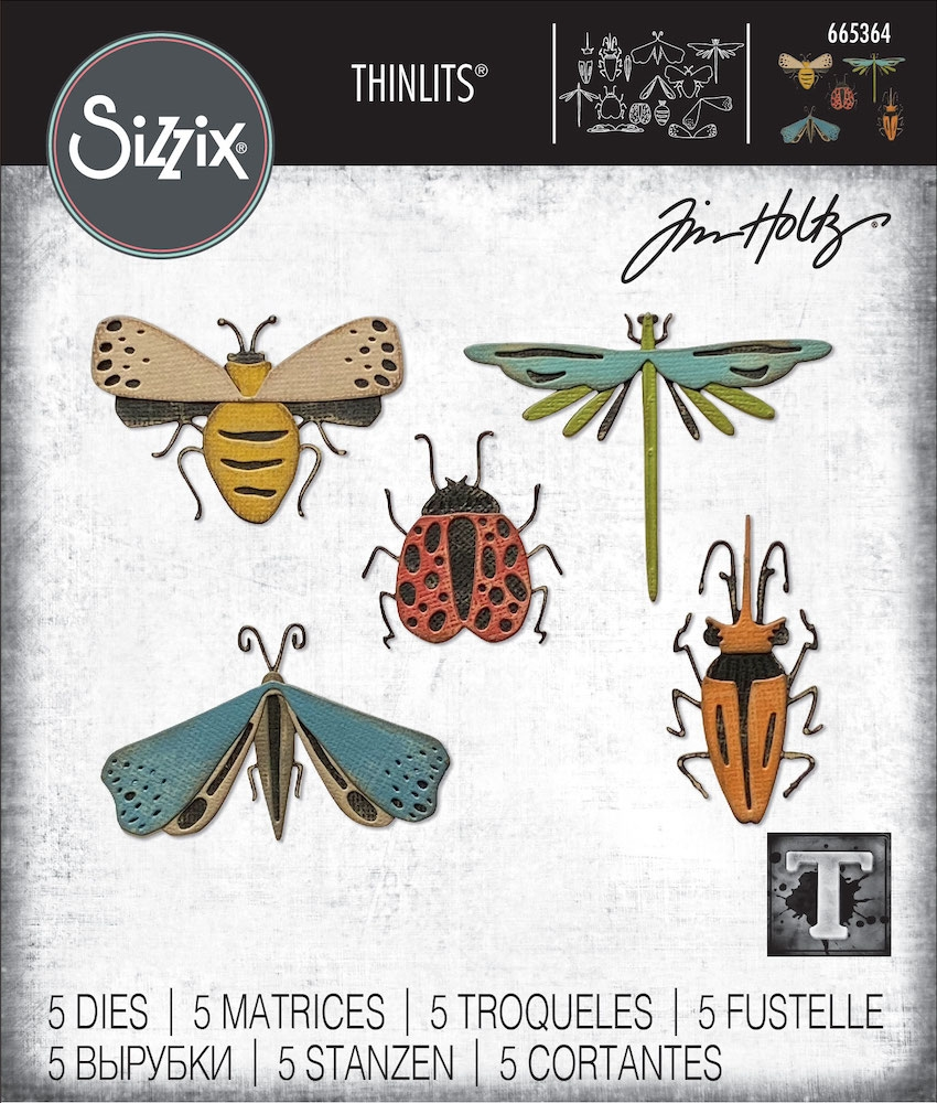 Tim Holtz Sizzix FUNKY INSECTS Thinlits Dies 665364 zoom image